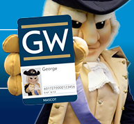 George holding a GWorld card