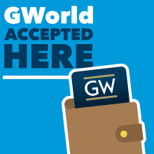 GWorld Card Accepted Sign