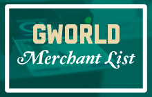 GWorld Merchant Lists
